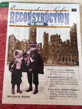 Everyday Life: Reconstruction To 1900 by Walter Hazen New Reproducible Workbook