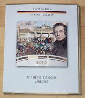 De Colección Acuñación Conmemorativa 5 x 10 Alemania Plata con Apliques de Oro