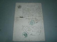 Lettre Maire de Mitschdorf Alsace attestation de bonne conduite 1865