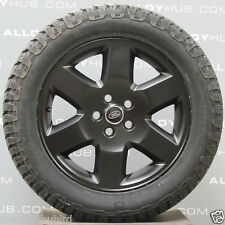 GENUINE LAND ROVER DISCOVERY 4/3 19INCH HSE BLACK ALLOY WHEELS+GENERAL GRABBERS