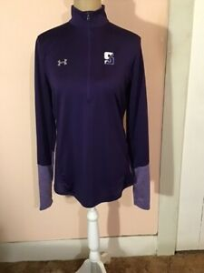 NWT Under Armour Heat Gear Quarter-Zip Pullover Top Purple Size S Loose  NWT