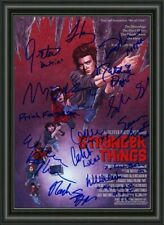 STRANGER THINGS  MOVIE PHOTO POSTER SIGNED BY CAST  - A4 PHOTO POSTER