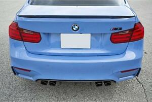 BMW PAINTED 668 Jet Black  3 SERIES F30 ABS 12-18 REAR BOOT LIP SPOILER M3 STYLE