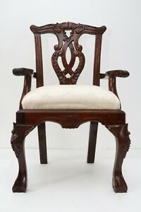 Vintage Classic Chippendale Solid Mahogany BABY Dining Chair 12 X 10.5 X 20