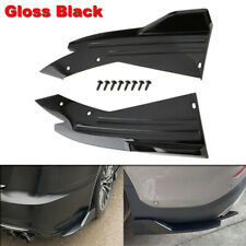 2x Gloss Black Car Rear Bumper Angle Protector Spoiler Diffuser Splitter Canards