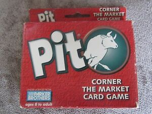 Pit Card Game Corner The Market 2nd Edition Hasbro Winning Moves 1996