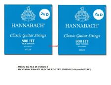 2 SET CORDE CLASSICA HANNABACH 800HT Hard Tension 2xD SPECIAL EDITION CON 2 RE