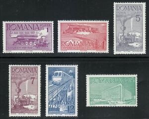 Romania 1939 MNH Mi 609-614 Sc 493-498   Romanian  Railways.Trains **