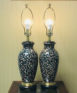 Pair Of Gorgeous Vintage Frederick Cooper Of Chicago Urn Style Table Lamps