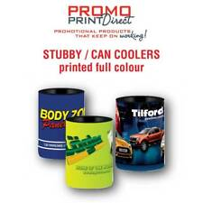 100 Stubby Holder Can Cooler Custom Printed Business Buck Gift FREE Artwork
