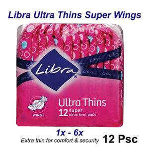 1x /2x /3x /4x /5x /6x Libra Ultra Thins Super Wings 12 Pack
