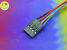 BOCCOLA/Header 4 Poli/ways cablate female connector Wired Dupont #a1298