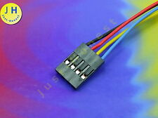 BUCHSE / HEADER 4 polig / ways verdrahtet  Female Connector wired Dupont #A1298