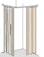 Umkleidekabine Ankleide Kleiderstange Duschvorhangstange Metall   105x105cm U.01