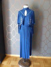 CHACOK Robe longue vintage de style t 36 Jersey fluide bleu gitane BON ETAT