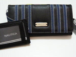 NWT* Nautica 2 in 1 pull out id clutch wallet with RFID and extra CC wallet