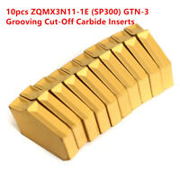 10pcs ZQMX3N11-1E SP300 Cut Off Grooving Carbide Inserts  For ZQ2020-3 Lathe