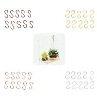 10pieces 1/12 Dollhouse Miniature S Shaped Hooks Hangers for Any Room Decor