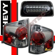 94-98-04 Chevy S10 Pickup GMC Sonoma Truck Tail Lights & LED 3rd Brake Light