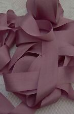 "100% PURE SILK RIBBON ~ANTIQUE/ROSE~5 YDS 1"" [25MM] WIDE"