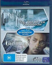 The Day After Tomorrow / I,Robot Blu-Ray Movie Twin Pack - FREE POST!
