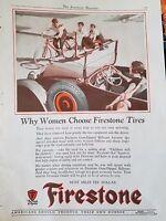 1926 Firestone Tires Why Women Choose Firestone Original Ad