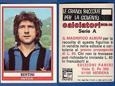 FIGURINA CALCIATORI PANINI 1973/74 - NUOVA/NEW N.157 BERTINI - INTER