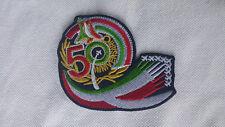 PATCH TOPPA RICAMATA 50° ANNIVERSARIO FRECCE TRICOLORE TERMOADESIVA CM. 8