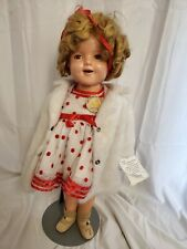 """18"""" Vintage 1930'S Ideal Shirley Temple Composition Doll. See appraisers price."""