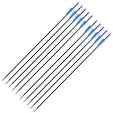 25.4X66cm Fibre Champ Point Flèches de Tir à L'Arc Composant ou Arc Réflexe Noir
