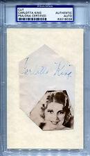 CARLOTTA KING Vintage Single Signed Slabbed Cut w/ Photo The Desert Song PSA/DNA