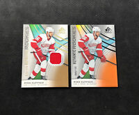 2019-20 SP GAME USED RYAN KUFFNER LOT OF (2) AUTHENTIC ROOKIE /118 + JERSEY /599