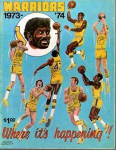 1974 2/12 NBA Basketball Program Boston Celtics @ Golden State Warriors, scored