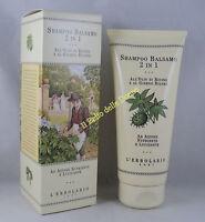 ERBOLARIO Shampoo Balsamo 2 in 1 200ml nutriente lucidante olio ricino ginkgo