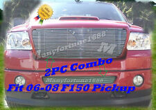 06-08 2007 2008 Ford F-150 F150 New Billet Grille Combo
