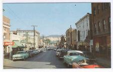 Street Scene Sport Car Coca Cola Waynesboro Virginia 1950s postcard