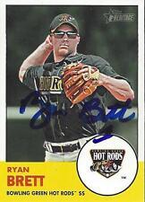 Ryan Brett Tampa Bay Rays 2012 Topps Heritage Signed Card