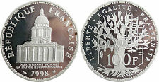 100  FRANCS  PANTHEON  ARGENT  1998   BELLE   EPREUVE   PROOF    FLEUR  DE  COIN