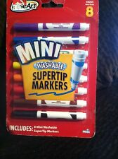 Rose Art 8 Children's Super Tip Markers Washable Easy Grip Non-Toxic Brand New