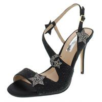 INC Womens Renita Satin Studded Star Evening Sandals Heels BHFO 6491
