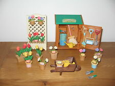Sylvanian Families Retired Flair Garden Shed Set RARE Almost Complete