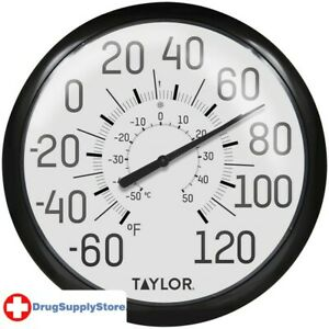 PE 13.25-Inch Big and Bold Dial Outdoor Thermometer