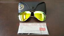 New Ray Ban Aviator Large Metal 3026 GOLD flash Mirror 62MM Sunglasses
