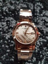 BU9126 New Burberry The City Rose Gold Diamond Ladies Watch