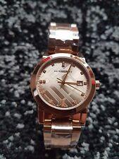 BU9126 New Burberry The City Rose Gold Diamond Ladies Watch