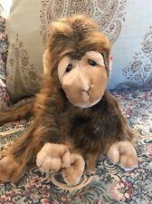 "1998 Tag Ty CHA CHA Brown Monkey Plush Soft Stuffed Toy 13"" Ape Long Hair #B5"