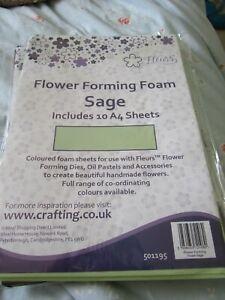 Fleurs flower forming foam; sage