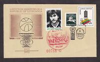 Lithuania Basketball Legend NBA Sabonis Cover FILOP FDC Envelope