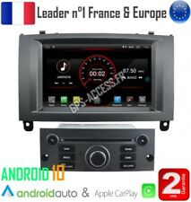 Autoradio Gris Android 10 Navigation GPS, Bluetooth Peugeot 407