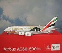 Herpa Wings1:500 Airbus A380 Emirates United Wildlife 02 532723 Modellairport500